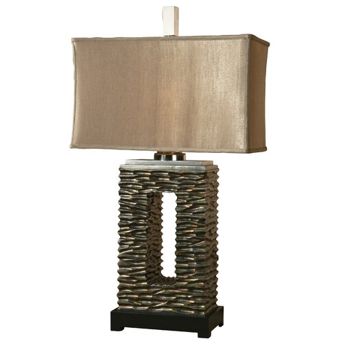 """Uttermost Tarin 35"""" H Table Lamp with Rectangle Shade"""