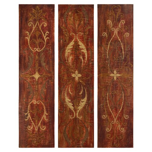Elegant Panels by Grace Feyock 3 Piece Original Painting on Canvas Set