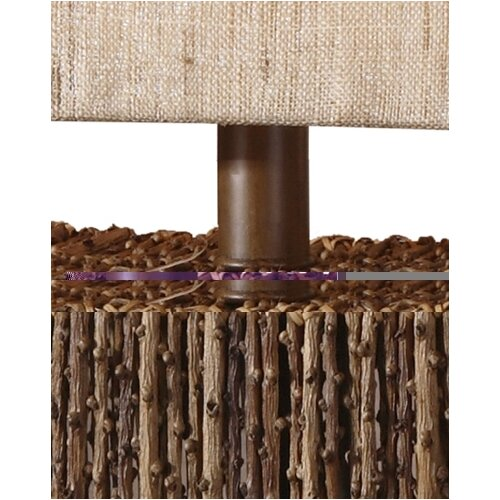 Uttermost Woven Rattan Barbuda Table Lamp