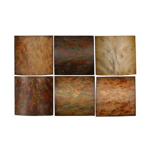 Uttermost Klum Collage by Grace Feyock 6 Piece Painting Print Set