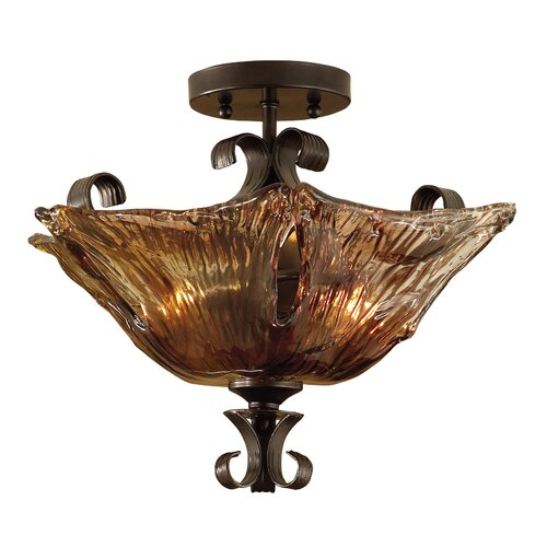 Uttermost Vetraio 2 Light Semi Flush Mount