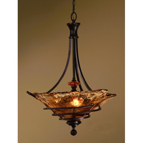 Uttermost 3 Light Vitalia Inverted Pendant