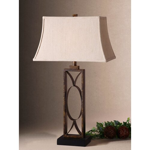 """Uttermost Maricopa 32"""" H Table Lamp with Rectangle Shade"""