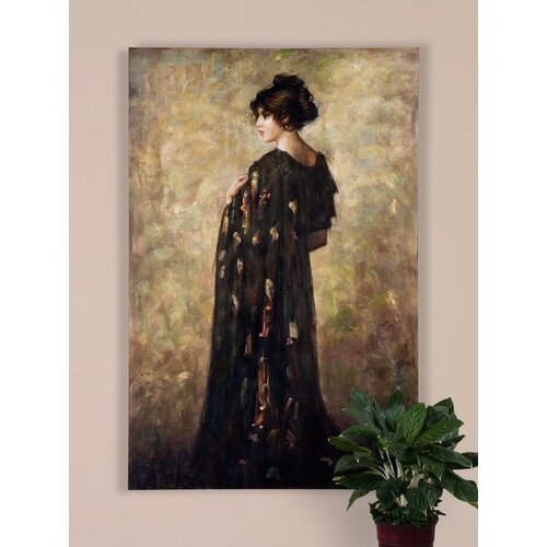 Contemplation Lady by Grace Feyock Original Painting on Canvas