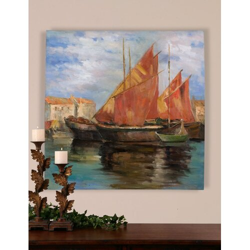 Bright Sailing by Grace Feyock Original Painting on Canvas