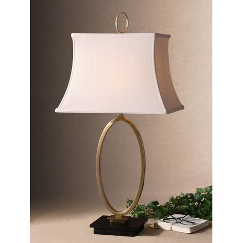 "Uttermost Orpaz 34"" H Table Lamp with Rectangle Shade"
