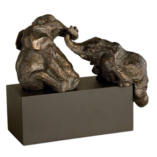 Uttermost Playful Pachyderms Sculpture