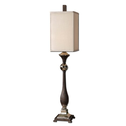 """Uttermost Valstrona Buffet 41"""" H Table Lamp with Square Shade"""
