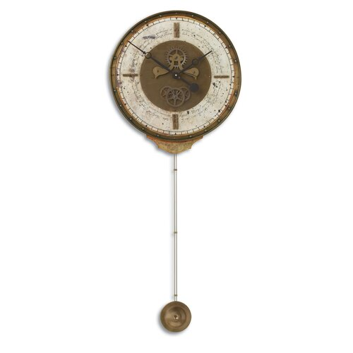 "Uttermost Leonardo 18"" Weathered Wall Clock"