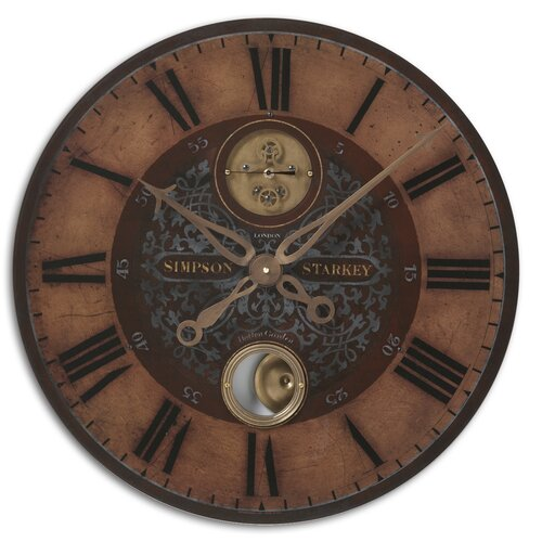 "Uttermost 23"" Simpson Starkey Weathered Wall Clock"
