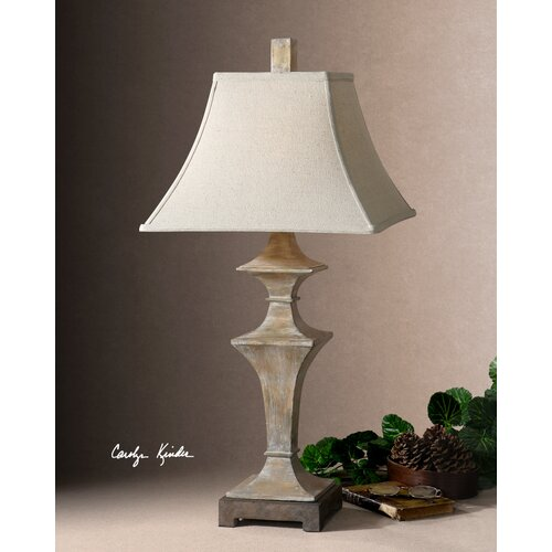 """Uttermost Cagliari 33"""" H Table Lamp with Square Shade"""