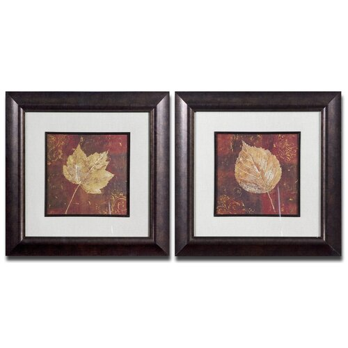 Golden Fall 2 Piece Framed Painting Print Set