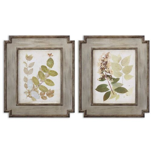 Natures Collage by Grace Feyock 2 Piece Framed Painting Print Set