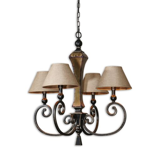 Uttermost FW Generic Porano 4 Light Chandelier