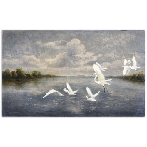 Arrival of The Birds Original Painting on Canvas