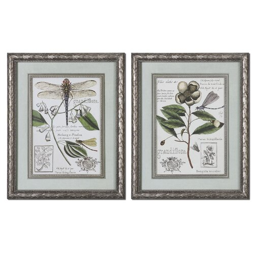 Grandiflora 2 Piece Framed Painting Print Set