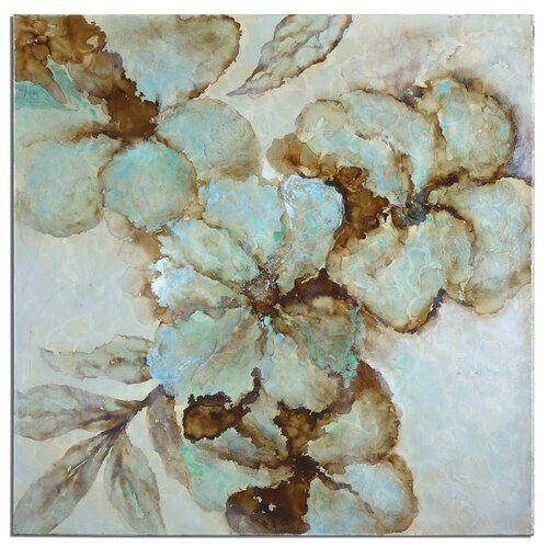 Fairy Blooms Floral Original Painting on Canvas