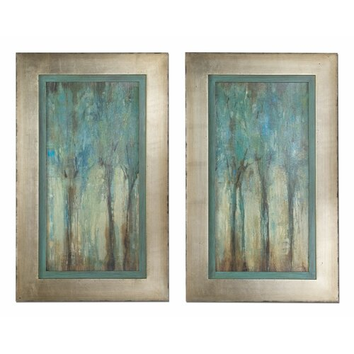 Whispering Wind 2 Piece Framed Original Painting Set