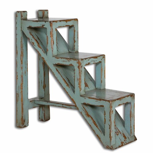 Uttermost Asher Blue End Table