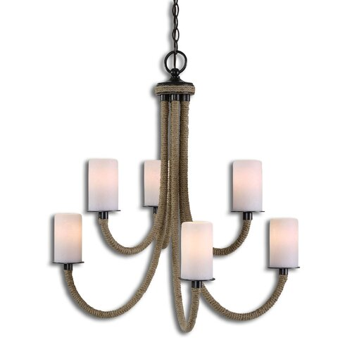 Uttermost Gironico 6 Light Rope Chandelier