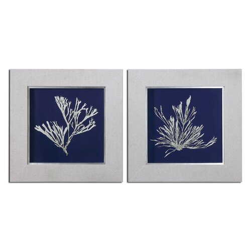 Seaweed by Grace Feyock 2 Piece Framed Original Painting Set