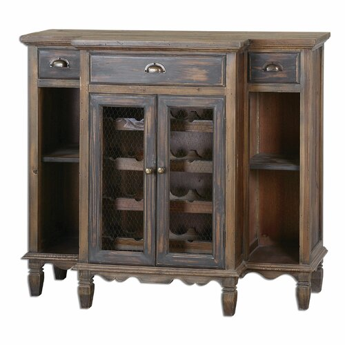Suzette Wood Bar Cabinet