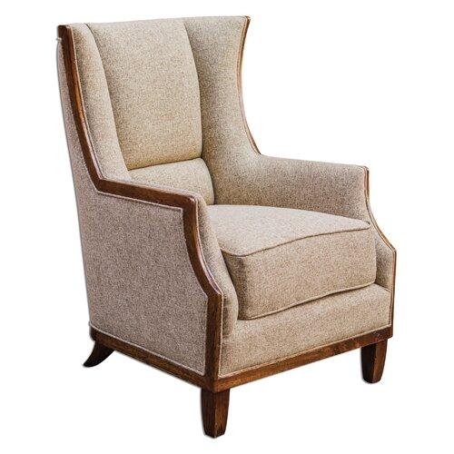 Burbank Tweed Wing Chair