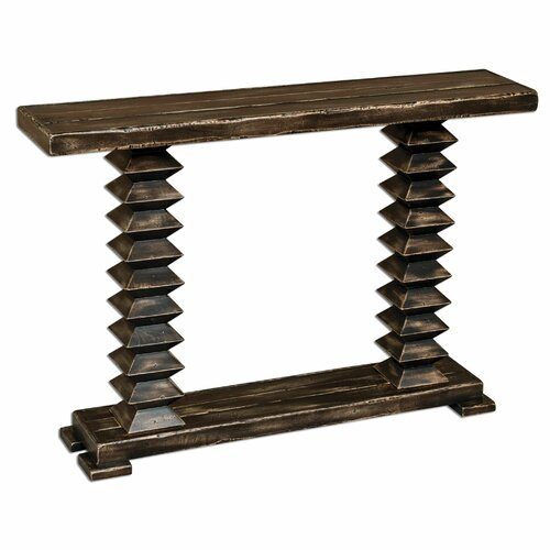 Ridge Wooden Console Table