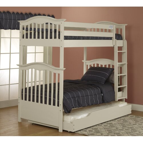 Orbelle Curved Twin Bunk Bed With Built In Ladder