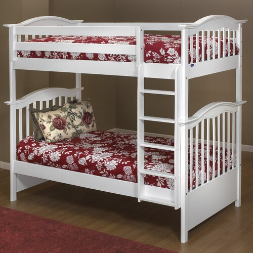 Orbelle Trading Twin over Twin Bunk Bed with Built In Ladder
