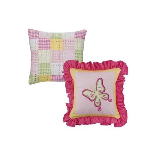 Girls Stripes and Plaids Decorative Pillow (Set of 2)