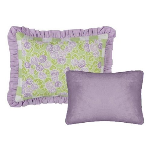 Bacati Flower Basket Decorative Pillow (2 piece set)