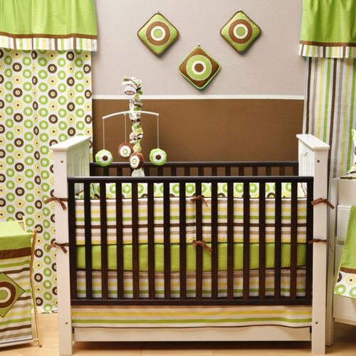 Bacati Mod Dots and Stripes 10 Piece Crib Set with Bumper