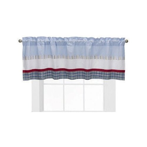 "Bacati Boys Stripe and Plaids 58"" Curtain Valance"