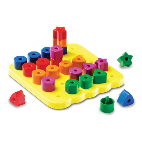 Stacking Shapes Peg Board 26 Piece Set