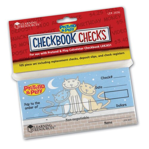 Learning Resources Checkbook Checks