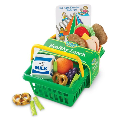 Learning Resources Pretend and Play Healthy Lunch Basket