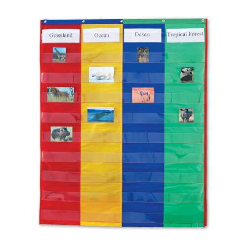 Two and Four Column Double - Ssided Pocket Chart