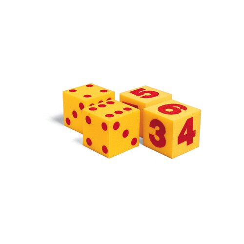 Learning Resources Giant Soft Cubes Dot 2/pk 5 Square