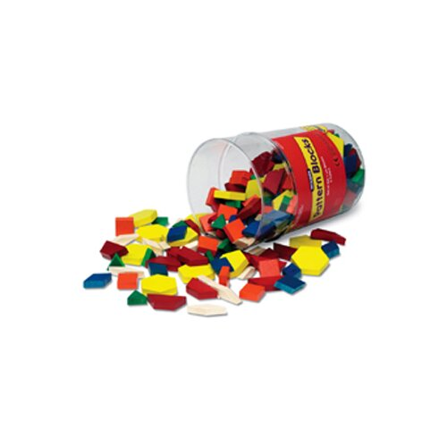 Learning Resources Pattern Blocks Wooden 250 Piece Set