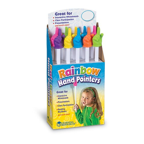 Learning Resources Rainbow Hand Pointers 10 Piece Set