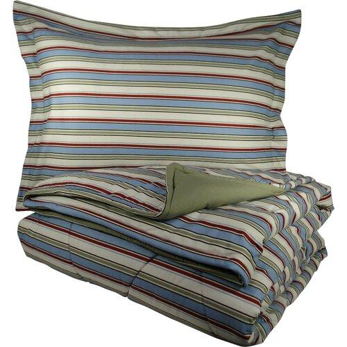 Micro Flannel® Awning Stripe Comforter Set