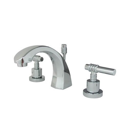 Elements of Design Milano Widespread Bathroom Faucet with Double Lever Handles