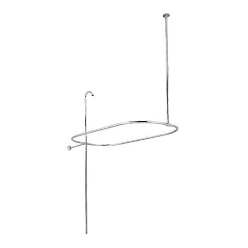 Elements of Design Oval Shower Rise with Enclosure