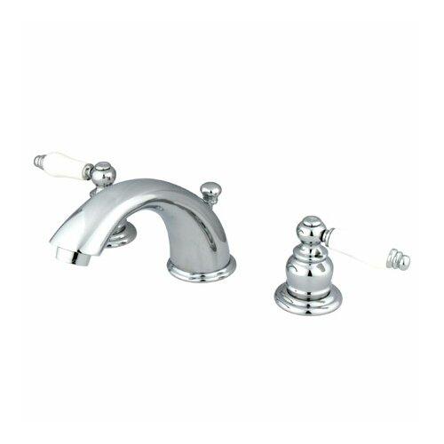Elements of Design Magellan Widespread Bathroom Faucet with Double Porcelain Lever Handles
