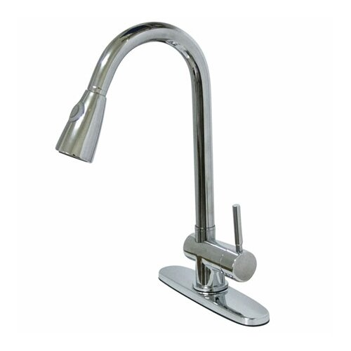 Elements of Design Single Hole Kitchen Faucet with Single Lever Handle