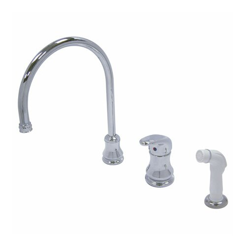 Single Handle Daytona Widespread Kitchen Faucet with Loop Handle and Side Spray