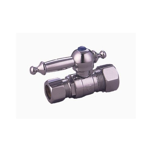 Elements of Design Decorative Quarter Turn Valves with Templeton Lever Handles