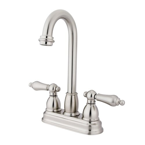 Elements of Design Double Handle Centerset Bar Faucet with Metal Lever Handles