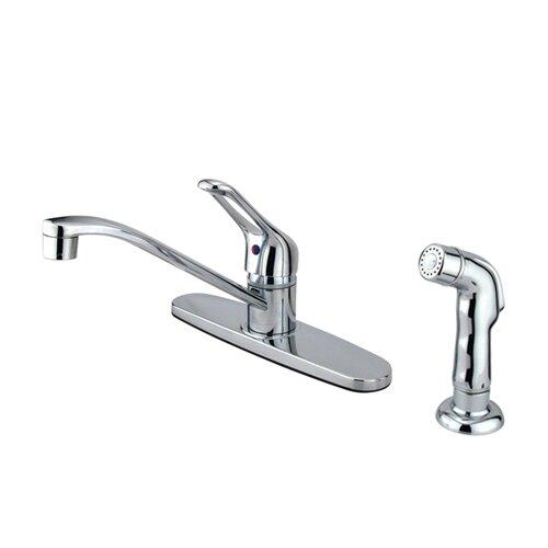 Elements of Design Single Handle Centerset Kitchen Sink Faucet with Loop Handle